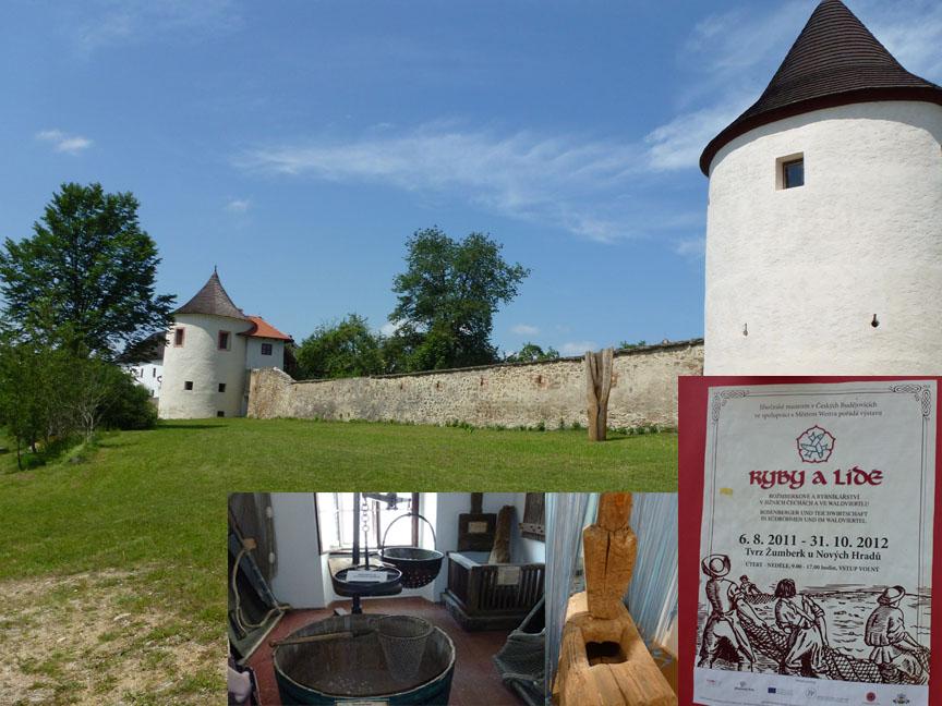 """Schloss Sonnberg mit Sonderausstellung """"Mensch und Fisch""""."""